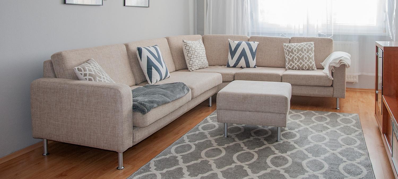 Scandinavian Minimalism Design. Beautiful Living Room Decorated